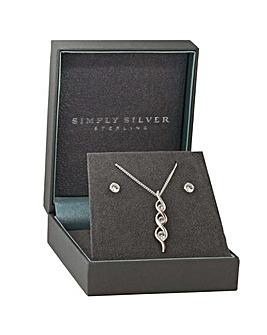 Simply Silver 2-Tone Wrap Set