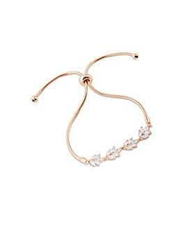 14ct Rose Gold Leaf Toggle Bracelet