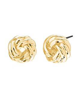 Gold Plated Knot Stud Earrings