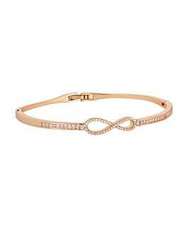 Gold Plated Infinity Bangle