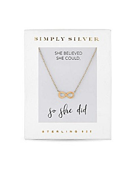 Simply Silver Gold Infinity Necklace