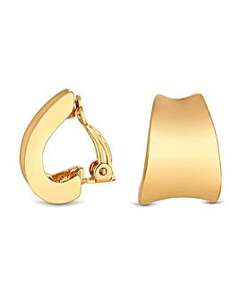 Jon Richard Gold Polished Earrings