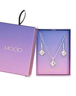 Mood Silver Crystal Cushion Set