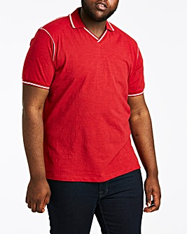 Trophy Neck Red Polo Long