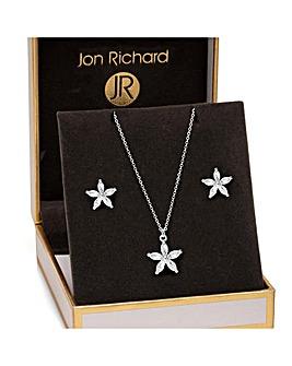 Jon Richard Crystal Flower Set