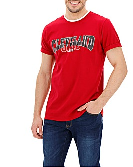 Cleveland Red Graphic Short Sleeve T-Shirt Long