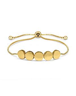 Gold Plated Polished Circle Toggle