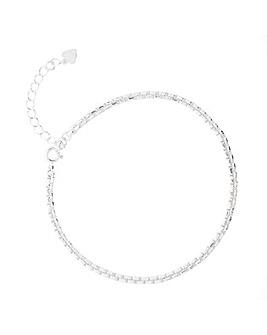 Sterling Silver 925 Box Chain Bracelet