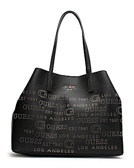 Guess Vikky Stamp II Pebbled Tote Bag