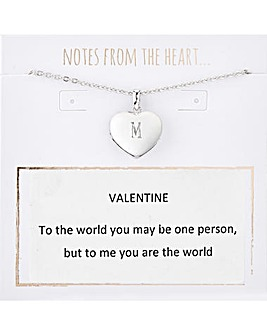 Valentine Heart Initial Pendant