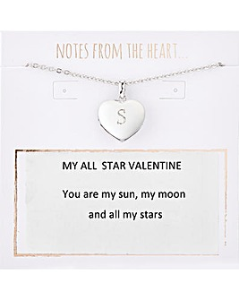 My All Star Valentine Initial Pendant