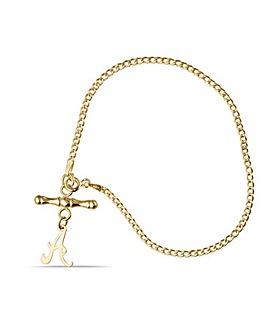 9ct Tbar Personalised Bracelet