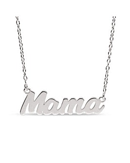 Sterling Silver Mama Necklet
