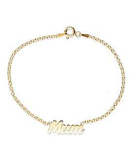 Silver Gold Plated Mum Bracelet