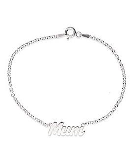 Sterling Silver Mum Bracelet