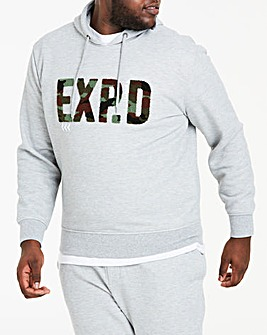 Expedition Grey Marl Hooded Top L