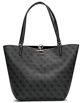 Guess Alby Toggle Signature Logo Tote Bag