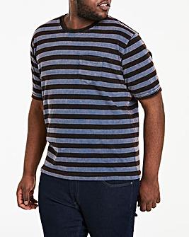 Acid Wash Stripe S/S T-Shirt R