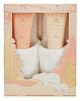 Style & Grace Utopia Fluffy Slipper & Body Set