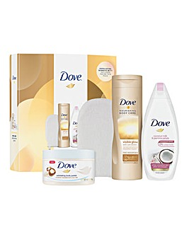 Dove Prep and Glow Self Tanning Gift Set With Body Mitt