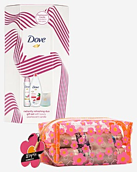 Dove Radiantly Refreshing Duo With Candle and Impulse Daring Beauty Bag Gift Set