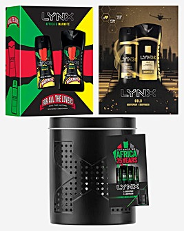 Lynx Men's Triple Pack Gift Sets