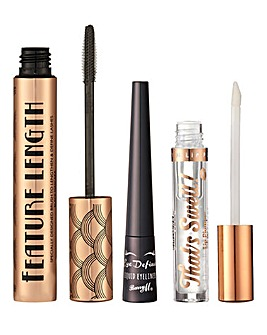 Barry M Mascara, Eyeliner and Plumping Lip Gloss Bundle