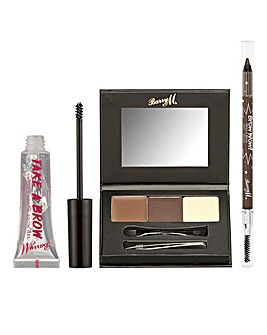 Barry M Brow Bundle - Brow Kit, Brow Gel and Brow Wow Pencil