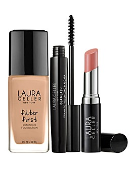Laura Geller Foundation Fundamentals 3 Piece Collection - Golden Medium