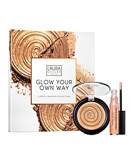 Laura Geller Glow Your Own Way 2 Piece Luminous Collection Gilded Honey