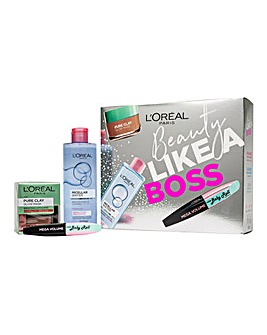 L'Oreal Paris Beauty Like A Boss Micellar, Face Mask & Mascara Gift Set