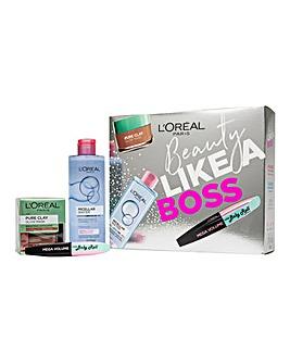 L'Oreal Paris Beauty Like A Boss Micellar, Face Mask & Mascara Gift Set