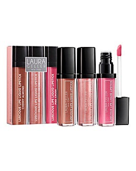 Laura Geller Luscious Lips Liquid Lipstick Trio - The Nudes