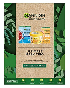 Garnier Ultimate Mask Trio for Face, Hair and Eyes