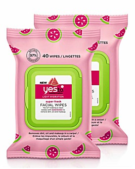 Yes To Watermelon Super Fresh Facial Wipes 2 Pack