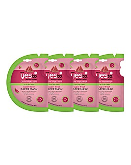 Yes To Watermelon Paper Mask Bundle