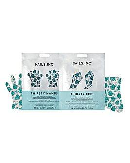 Nails Inc Thirsty Feet & Hands Mask Set