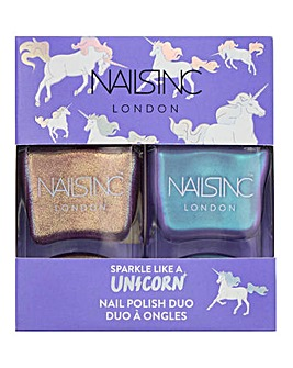 Nails Inc Sparkle Unicorn Nail Polish Duo