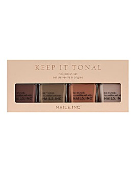 Nails Inc Keep It Tonal Nail Polish Quad