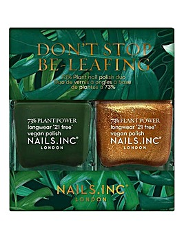 Nails Inc Don't Stop Beleafing Nail Polish Duo