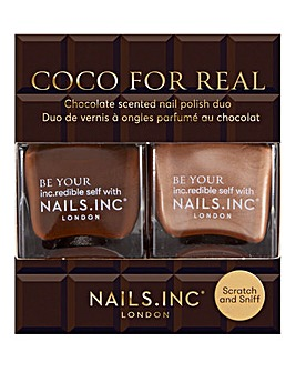 Nails Inc Coco For Real Nail Polish Duo