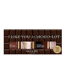 Nails Inc I Like You a Choco-lot Nail Polish Quad