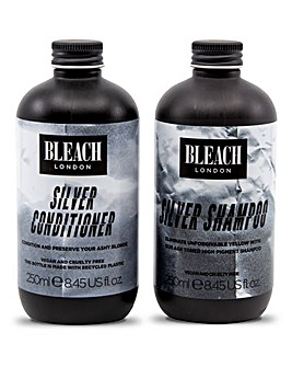 Bleach London Silver Shampoo & Conditioner Duo