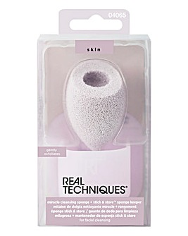 Real Techniques Miracle Cleansing Sponge + Stick & Store Keeper