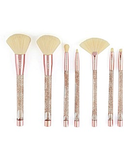 LaRoc 7 Piece Gold Glitter Brush Set
