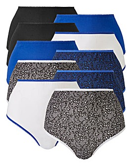 10 pack Lace Print Full Fit Briefs