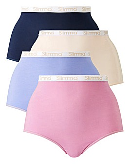 4 Pack Slimma Full Fit Purples Briefs