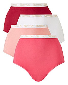 4 Pack Slimma Full Fit Pinks Briefs