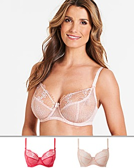 2Pk April Floral Embroidery Full Cup Bra