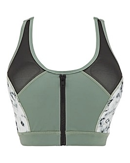 Sustainable Active Mesh Panelled Bra
